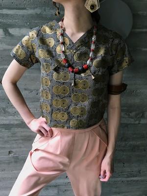 【Jr size】Vintage african batik tops ( ヴィンテージ アフリカン バティック トップス