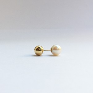 K18 7mm Ball Pierce with Akoya Catch