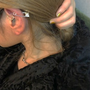 cherry pin earring  SILVER925 18G #LJ18055P