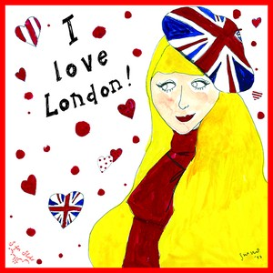 バンダナ【London girl】White