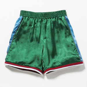 SATIN SOUVENIR  SHORTS - GREEN