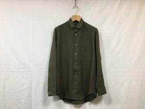 "semoh""linen gather shirt khaki"""
