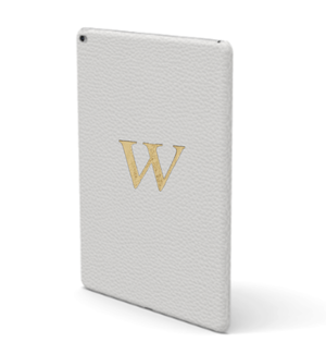 iPad Premium Shrink Leather Case (Milk White)