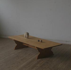 古手 造りの良い大きな横長ローテーブル YZ2209
