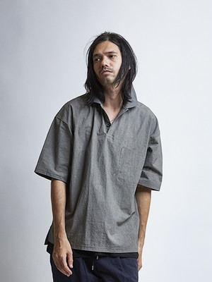 EGO TRIPPING (エゴトリッピング) RELAXED POLO / GRAY 613614-03