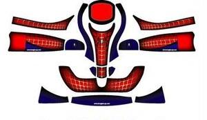 レーシングカート カウルステッカー フリーライン用/Spider-Man 【特注品】