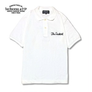 """DUCKTAIL CLOTHING """"PARADISE POLO"""" WHITE ダックテイル クロージング ポロシャツ"""