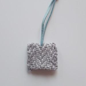 送料込み 手織り キーカバー キーケース ヘリンボーン織り グレー