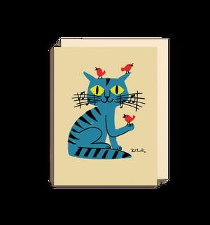 ポール・サールビ グリーティングカード(ネコ)