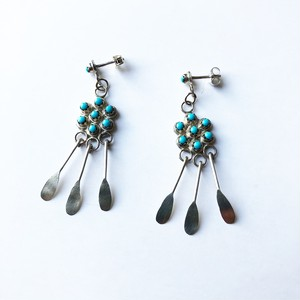Navajo Indian Silver Earrings