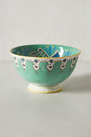 ANTHROPOLOGIE //  Elka Bowl -green