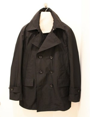 biography Memory Twill Black P-Coat