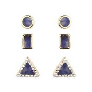 Semiprecious Stones 3  Pierce SET (TE0396)