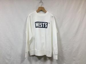 "WESTOVERALLS""CREW SWEAT WHITE/NVY"""