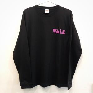 WALK Long Tee (黒ボディ)