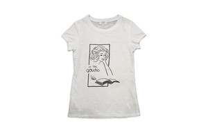 GAUCHO capa designed by masa-sculp tee for ladies jimbocho/white 440-442