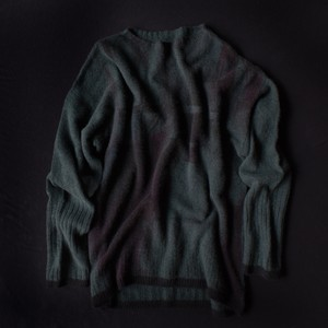 【11/11入荷】marumasu SMOKEY GRID[green]カシミヤ100%