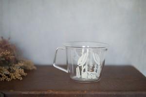 大家三佳 ガラスの器 「眠るねこ(コーヒーカップ 220ml)」 【om_0011】