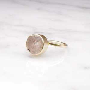 ROUGH STONE RING GOLD 012