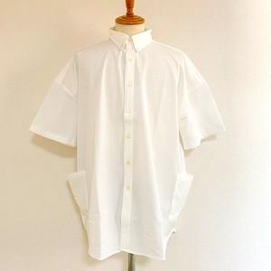 Seersucker Stretch Over Size Shirts White