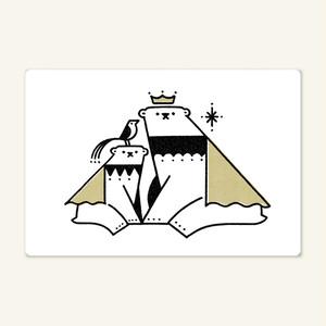 ポストカード(シロクマの親子)