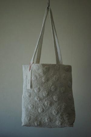 eavamの刺繍バッグ:リアンハー/白(L) yeb:rain ha/white(L)