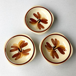 """SAKAEGI DESIGN"" Hand Painted Ceramic Salad Bowl 70's JPN デッドストック"