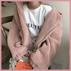 pinkふわもこジャケット 1002