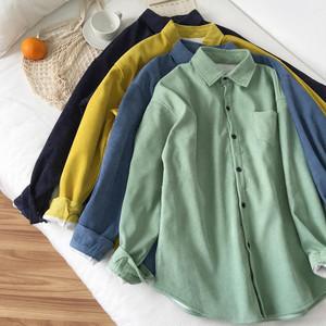 【送料無料】アウター シャツ シャツジャケット CPOシャツ ビッグシャツ トレンド 流行 カジュアル 裏起毛 コーデュロイ 春色 春秋