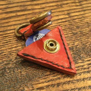 Leather Pick Case Key-holder / Red
