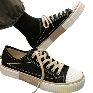 Point design canvas sneakers LD0438