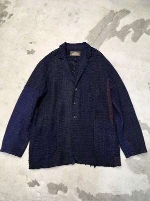 "kaval / simple blouse jacket ""japanese vintage silk hand rag woven"" (カヴァルの裂き織りジャケット)(期間限定販売)"