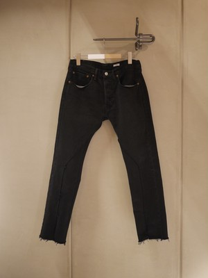 OLD PARK / SLIT JEANS (BLACK)