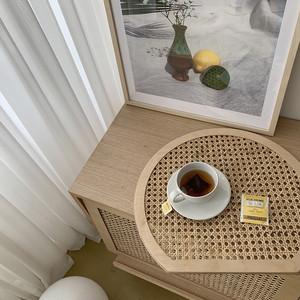 rattan round table mat / ラタン ラウンド テーブルマット トレー 韓国 北欧