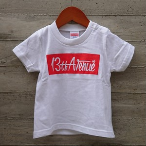 KID'S MODEL 13th Avenue BOX LOGO T-shirts col.wht
