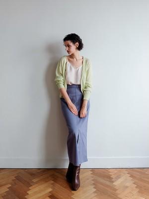 stretch twill narrow skirt(blue gray)