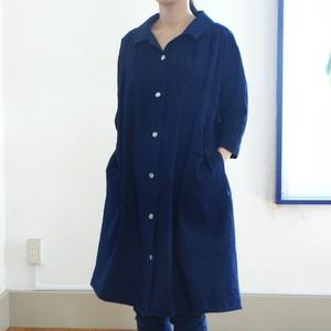 <レディス>SALE 30%OFF  ポプリンデニムのシャツコート(濃紺系)