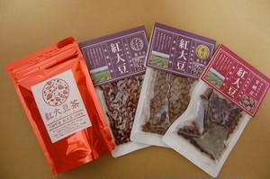紅大豆茶&甘納豆&煎り豆セット