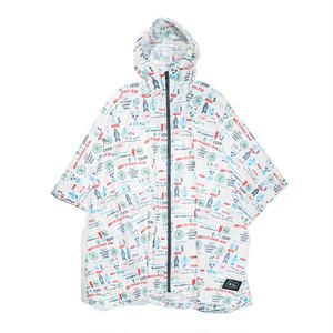 [KiU×NAC]RAIN PONCHO / WHITE