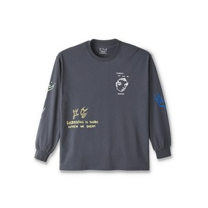 POLAR SKATE CO.  Notebook Longsleeve Graphite L