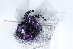 ディップ髪飾り*紫水晶の華