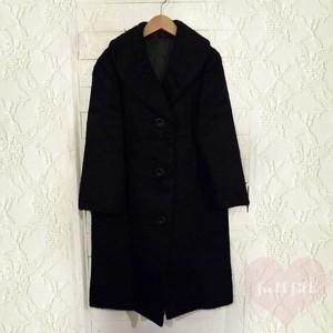 ブラック ショールカラーファーコート