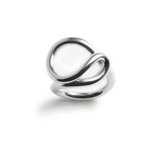 Twirl silver ring