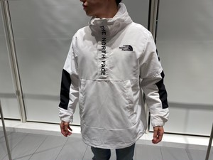 【海外買付アイテム】THE NORTH FACE HALF ZIP ANORAK (white)