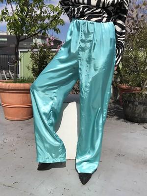 Vintage Metalic sax blue pants ( ヴィンテージ メタリック 水色 パンツ )