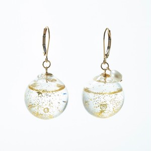 "<Charity Project ""Message"">Glass dome french hook pierced earrings"