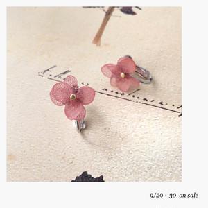 【9/29〜30販売】紫陽花イヤリング/ピアス