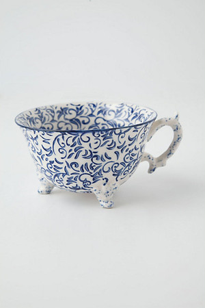 ANTHROPOLOGIE //  Teacup -blue