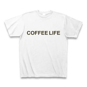 Tシャツ-珈琲ライフ(白)