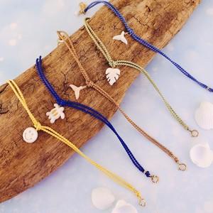【kiyolakrei】キヨラクレイ キヨラハワイアン シルクコード ブレスレット 白珊瑚 ピンク珊瑚 K10 kh04350 kh04360 kh04370 kh04380 kh04390 (CORALIA)